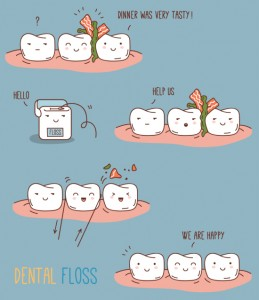 Don't let food particles and plaque build up between your teeth. Make sure that you are making flossing a priority.